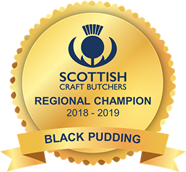 Scottish Craft Butchers - Regional Champion - Black Pudding 2018/2019